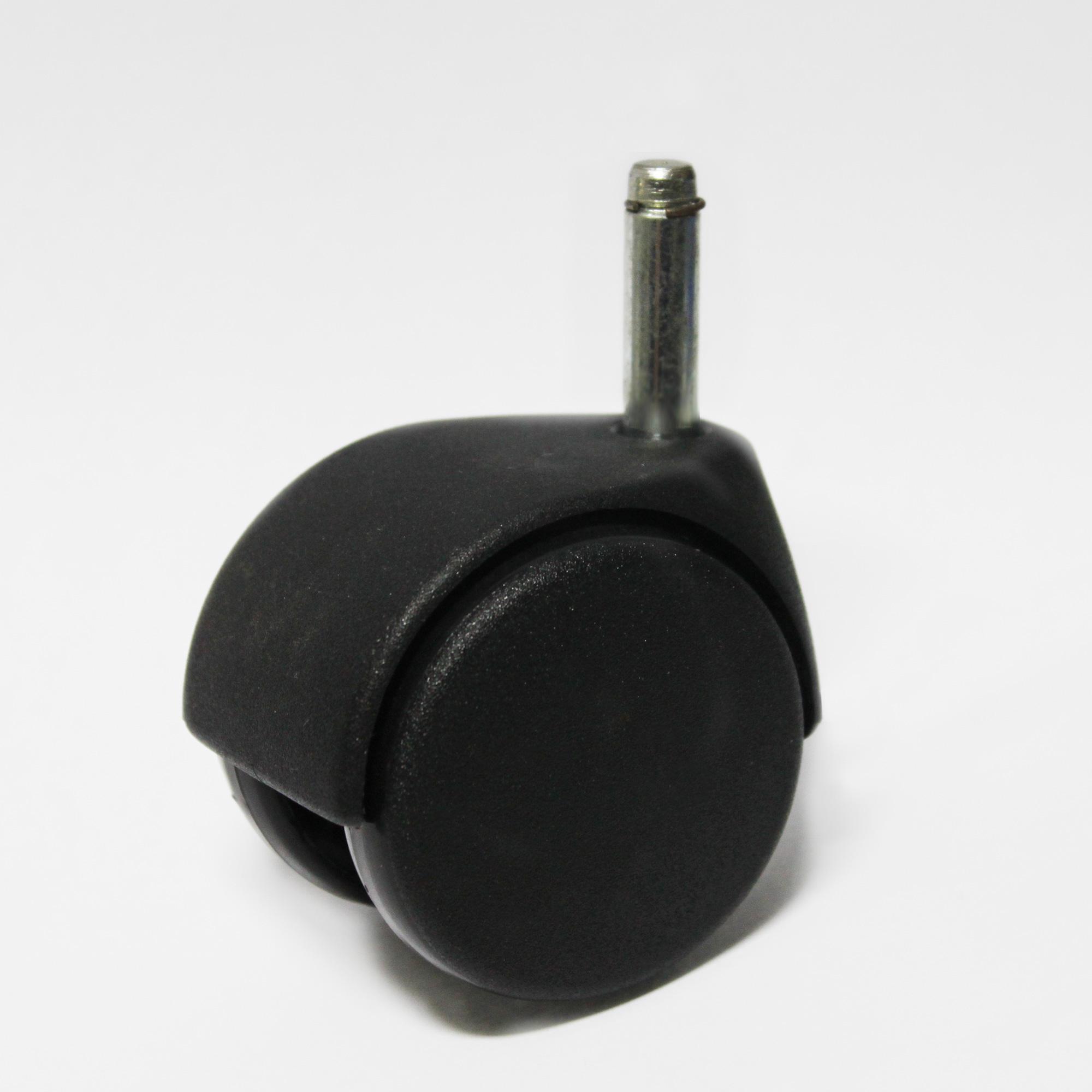 Lenkrolle 50mm, schwarz mit 8mm Stift L= 30mm