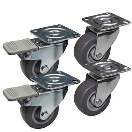 4 Möbelrollen mit und ohne Bremse