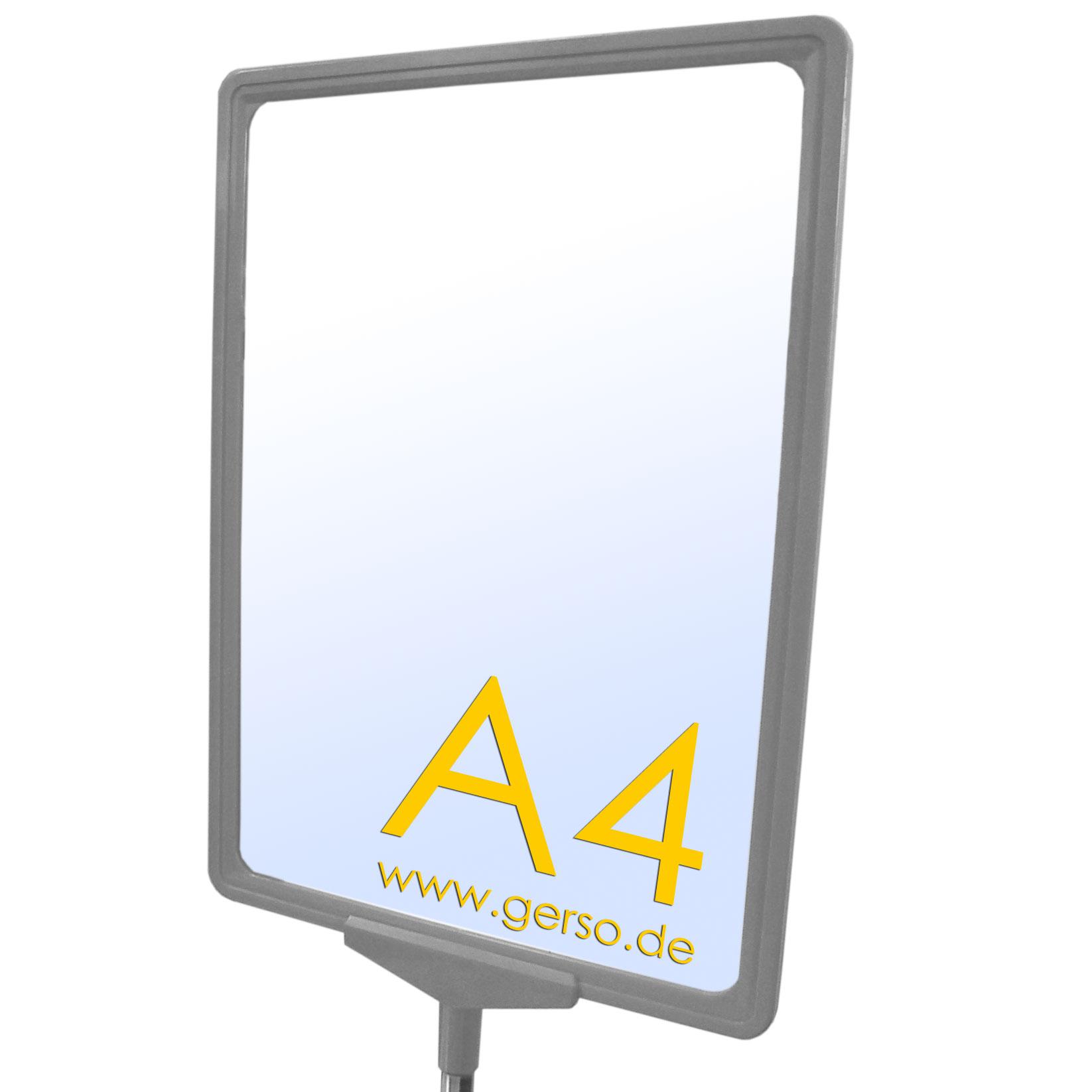 Plakatrahmen A4 in grau