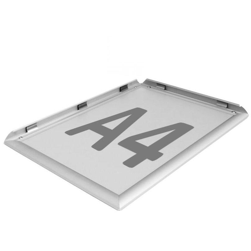 Alurahmen A4 Aluminium Display Alu Klapprahmen