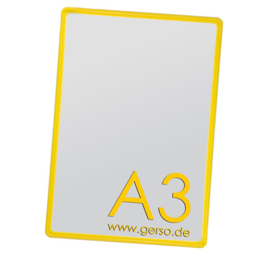 Plakatrahmen A3 gelb