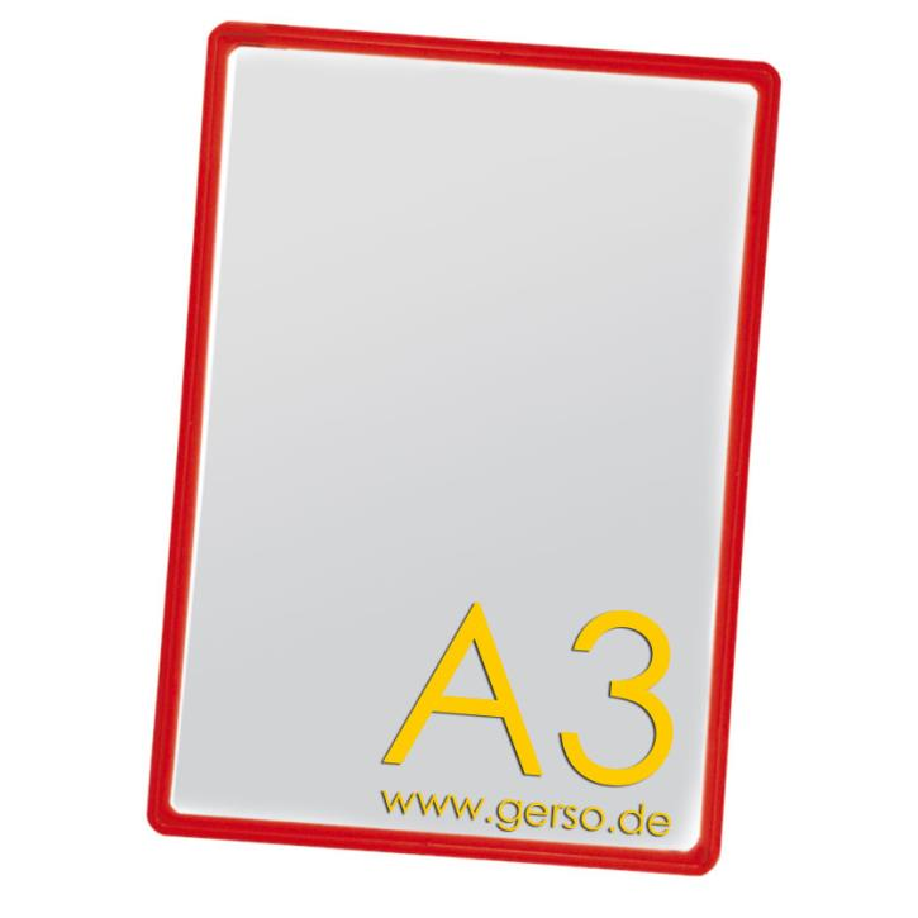 Plakatrahmen A3 rot