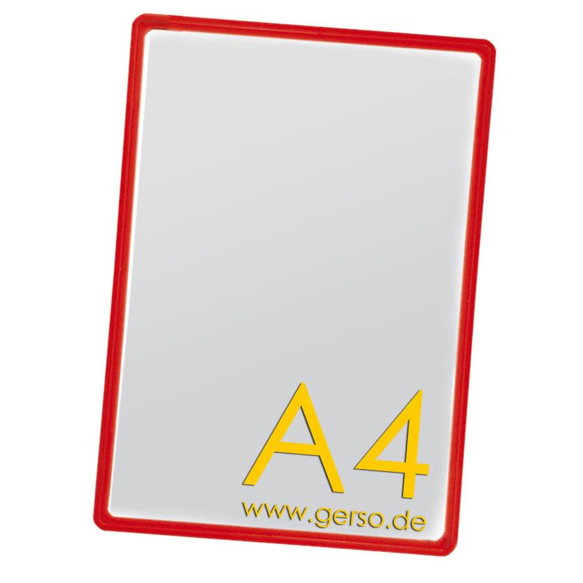 Plakatrahmen A4 rot