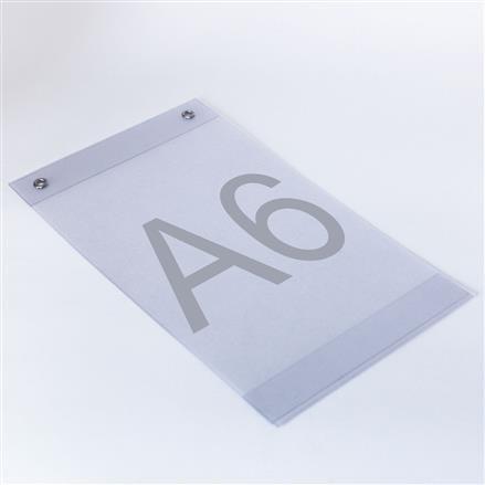 Plakattaschen aus PVC mit Ösen A6