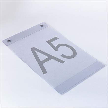 Plakattaschen aus PVC mit Ösen A5