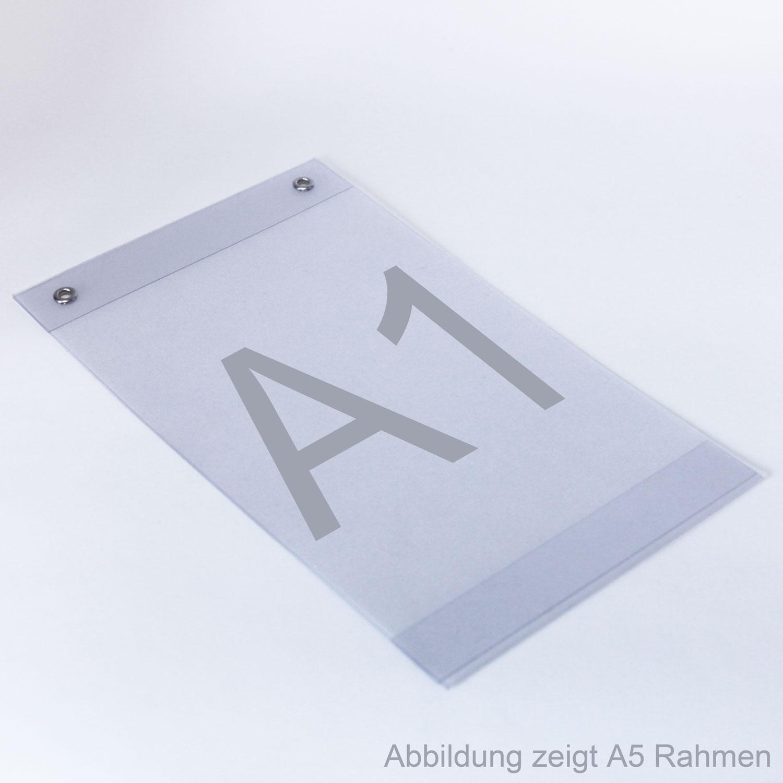 Plakattaschen aus PVC mit Ösen A1