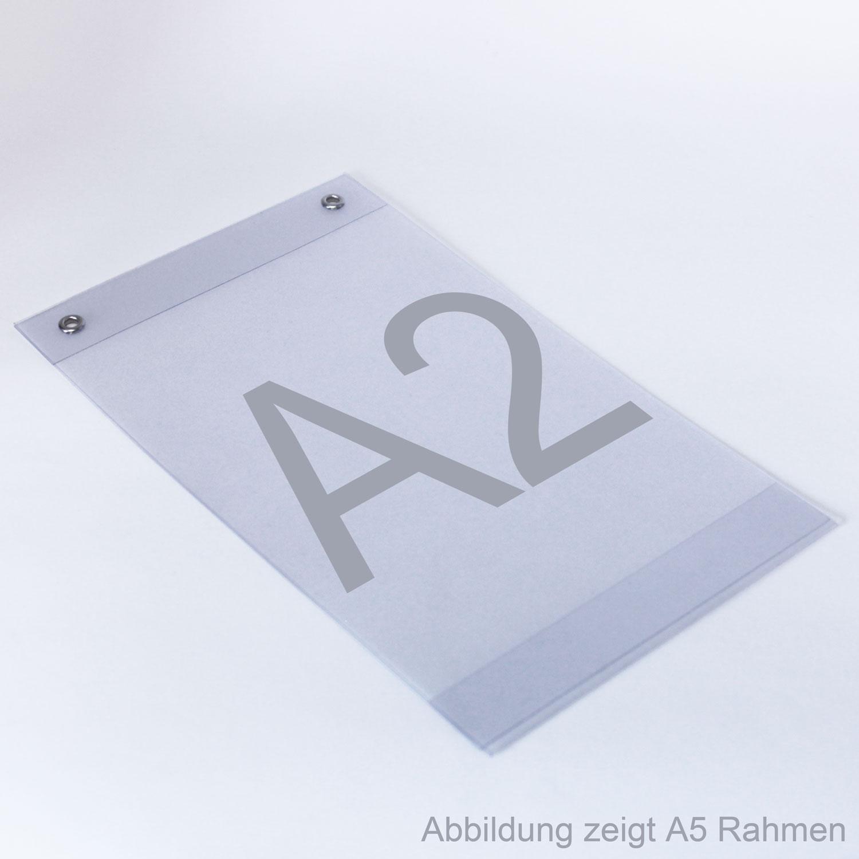 Plakattaschen aus PVC mit Ösen A2