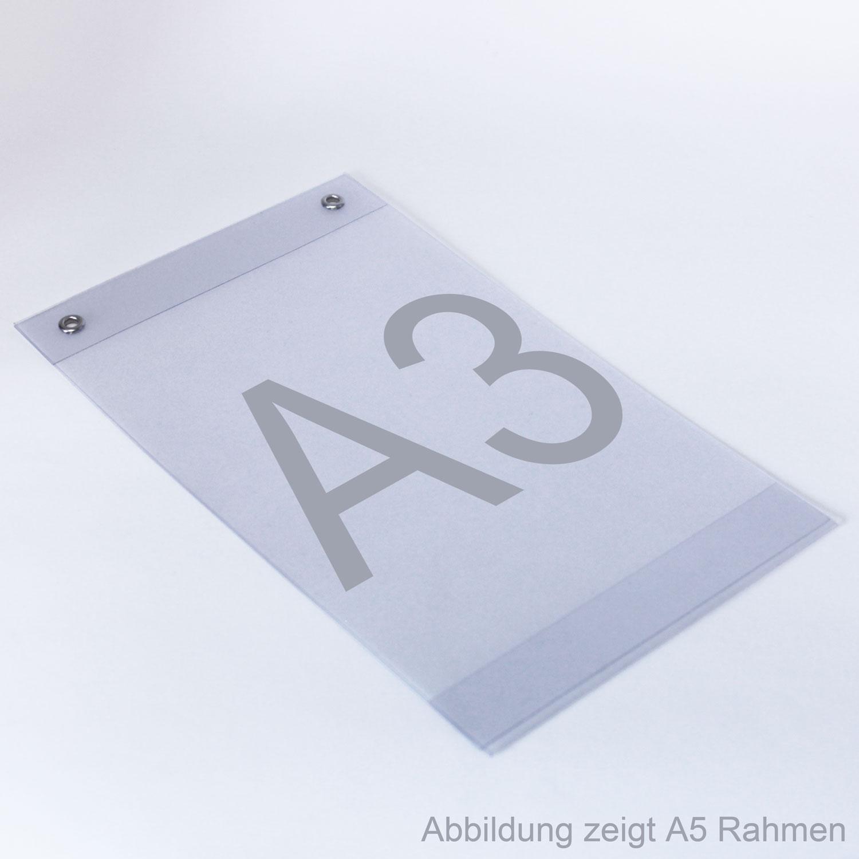 Plakattaschen aus PVC mit Ösen A3