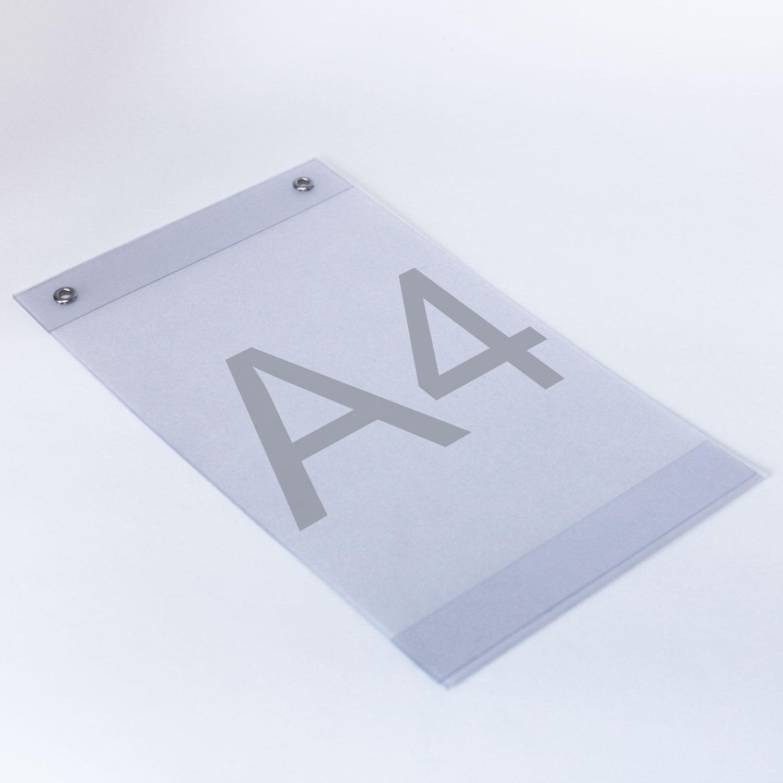 Plakattaschen aus PVC mit Ösen A4
