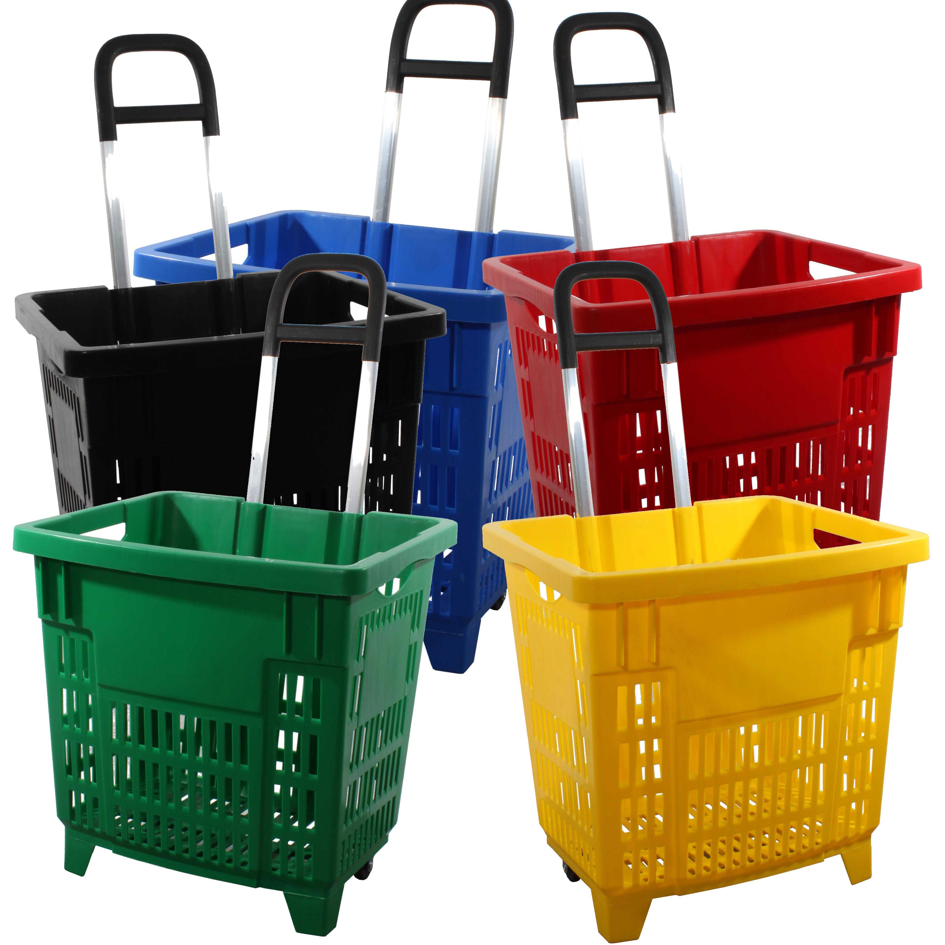 Einkaufstrolley mit Rollen 38L Farbauswahl