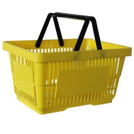 Einkaufskorb mit 2 Bügeln, 21 Liter, gelb