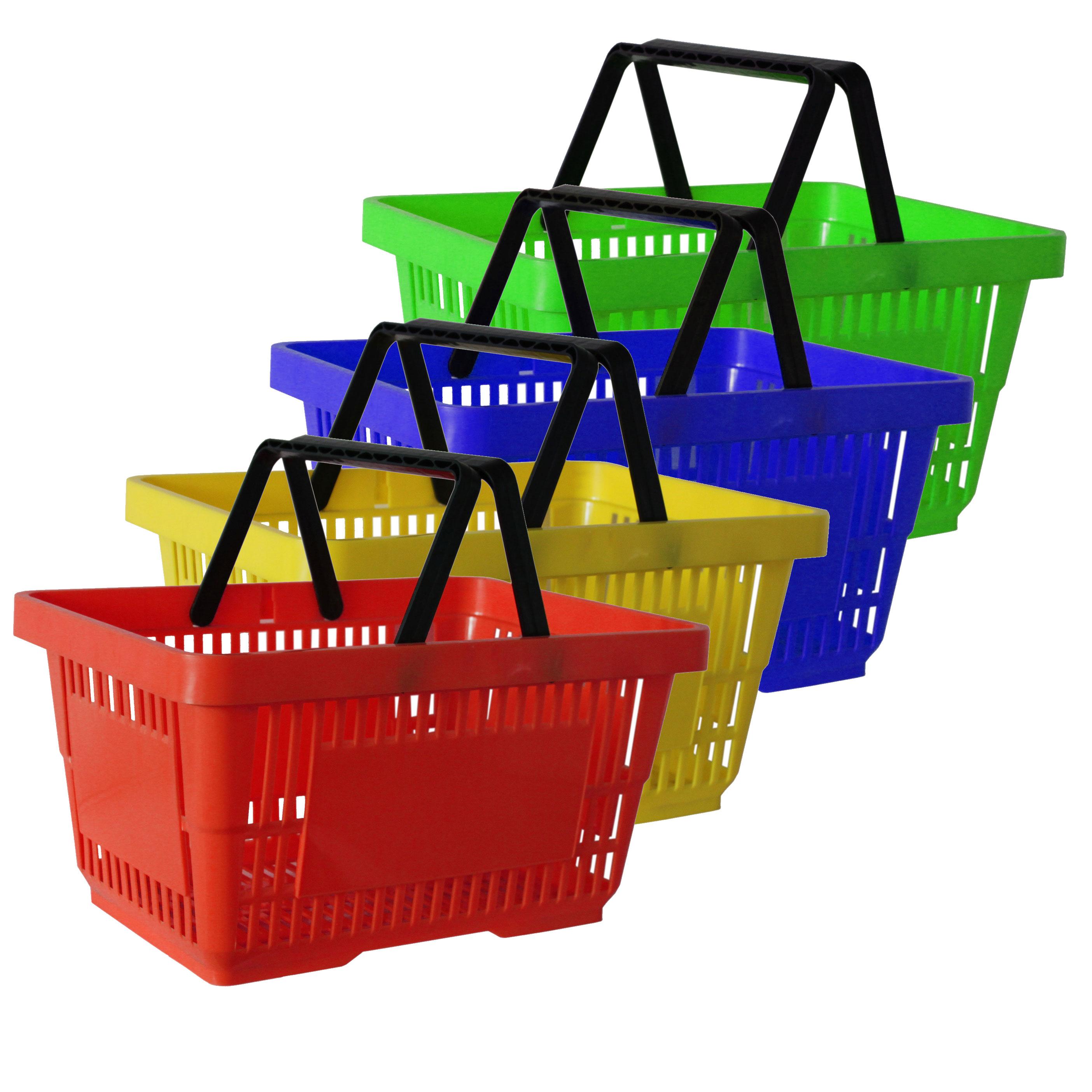 Einkaufskorb mit 2 Bügeln, 21 Liter diverse Farben