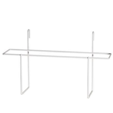 Prospekthalter A4 querformat für Gitterwand, weiß