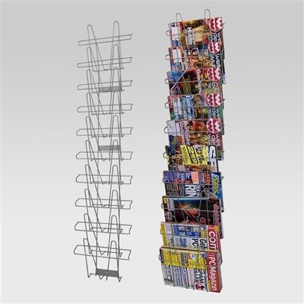 Wandhalter mit 10 Fächer A3,