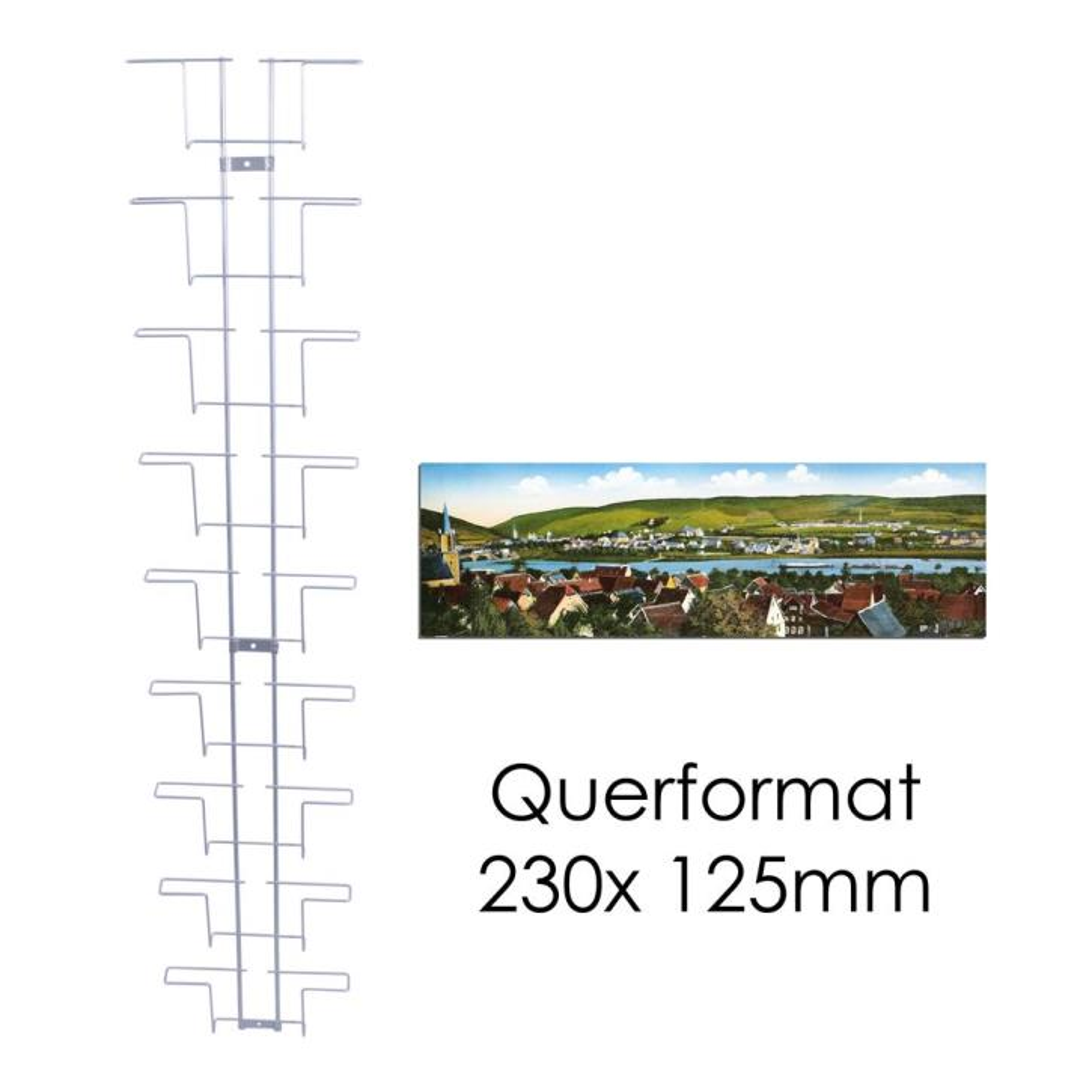 Kartenleiste für Kompaktbriefhülle 229x125mm