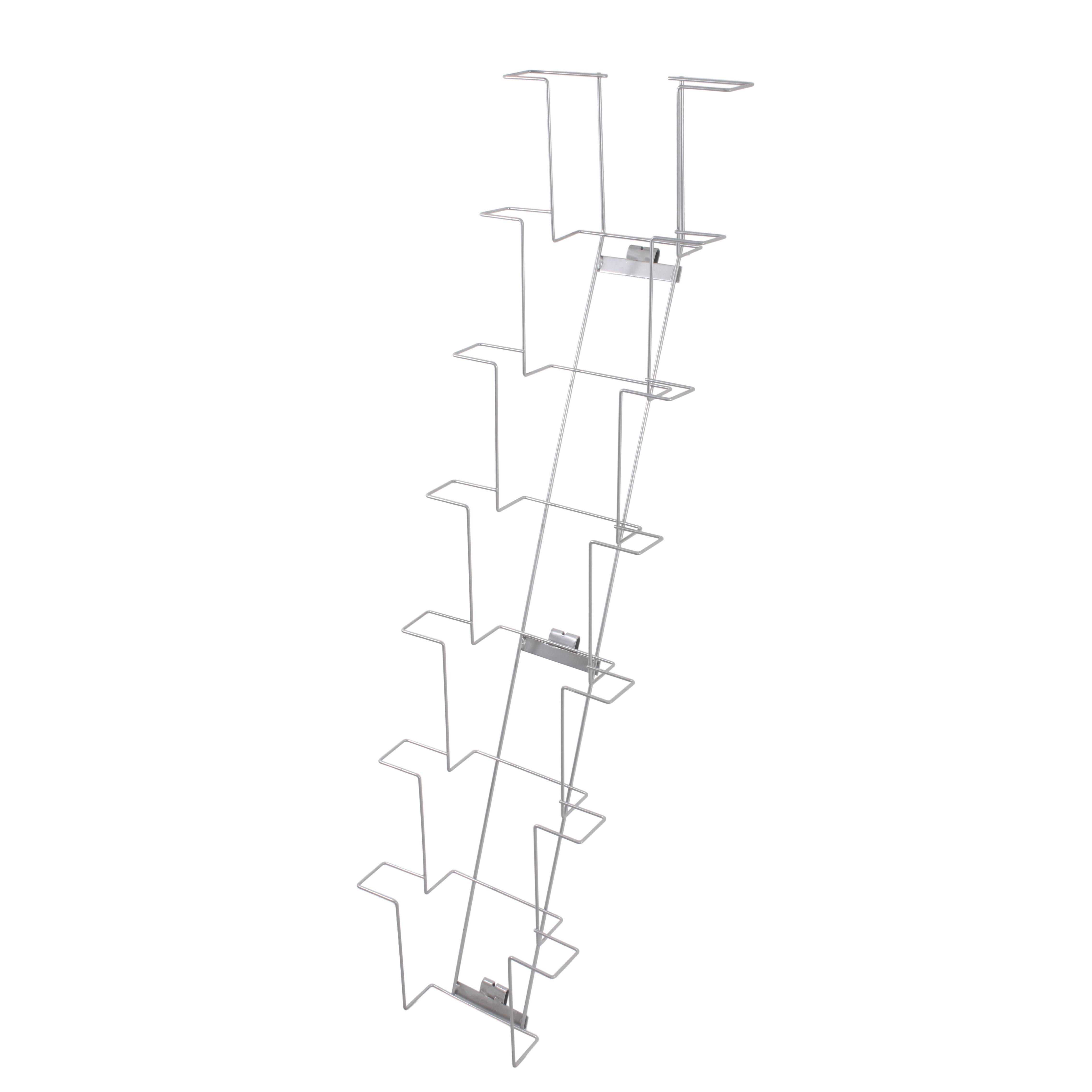 Wandhalter für Prospekte A4, 8 Fächer Querformat