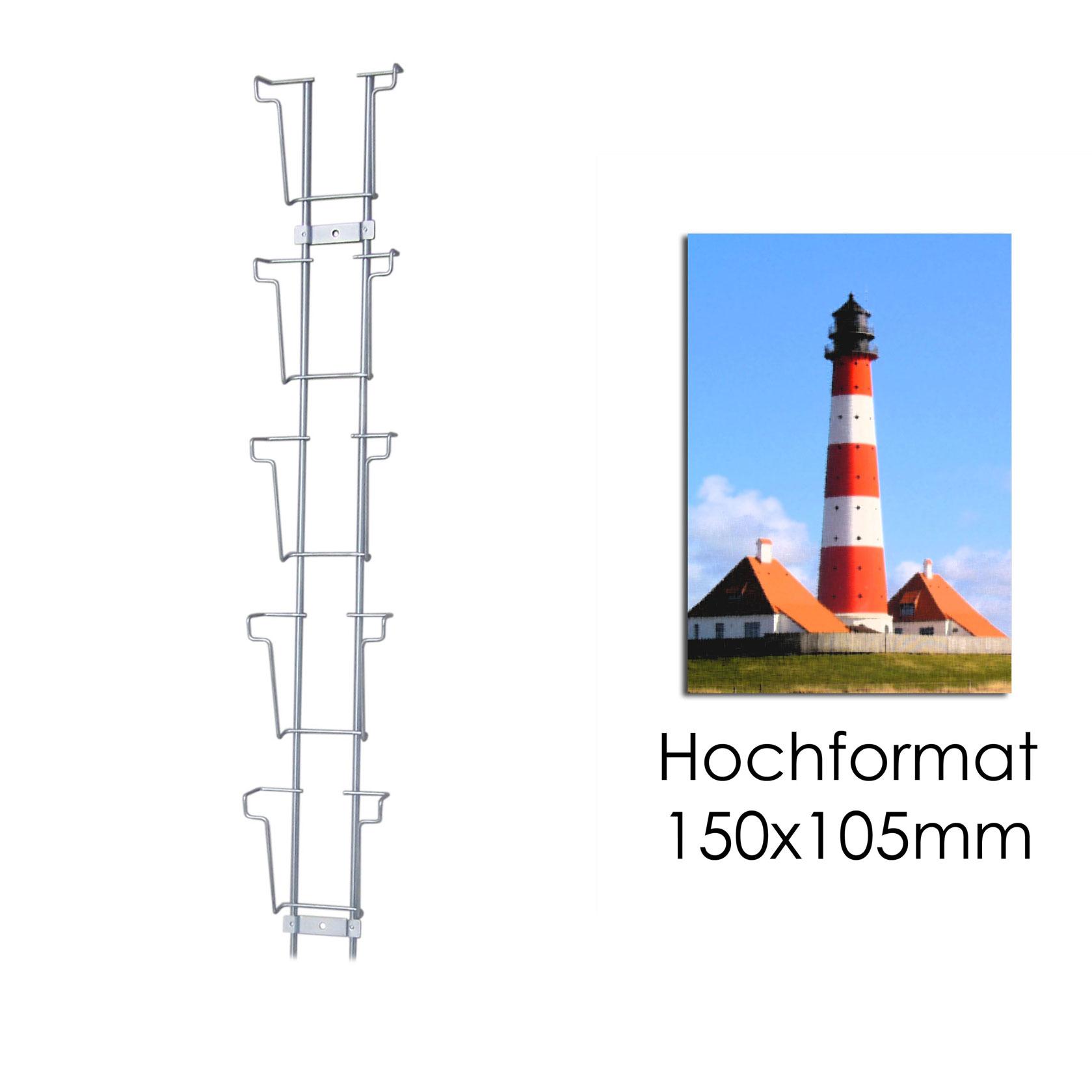 Postkartenleiste mit 5 Fächern HF 105 mm