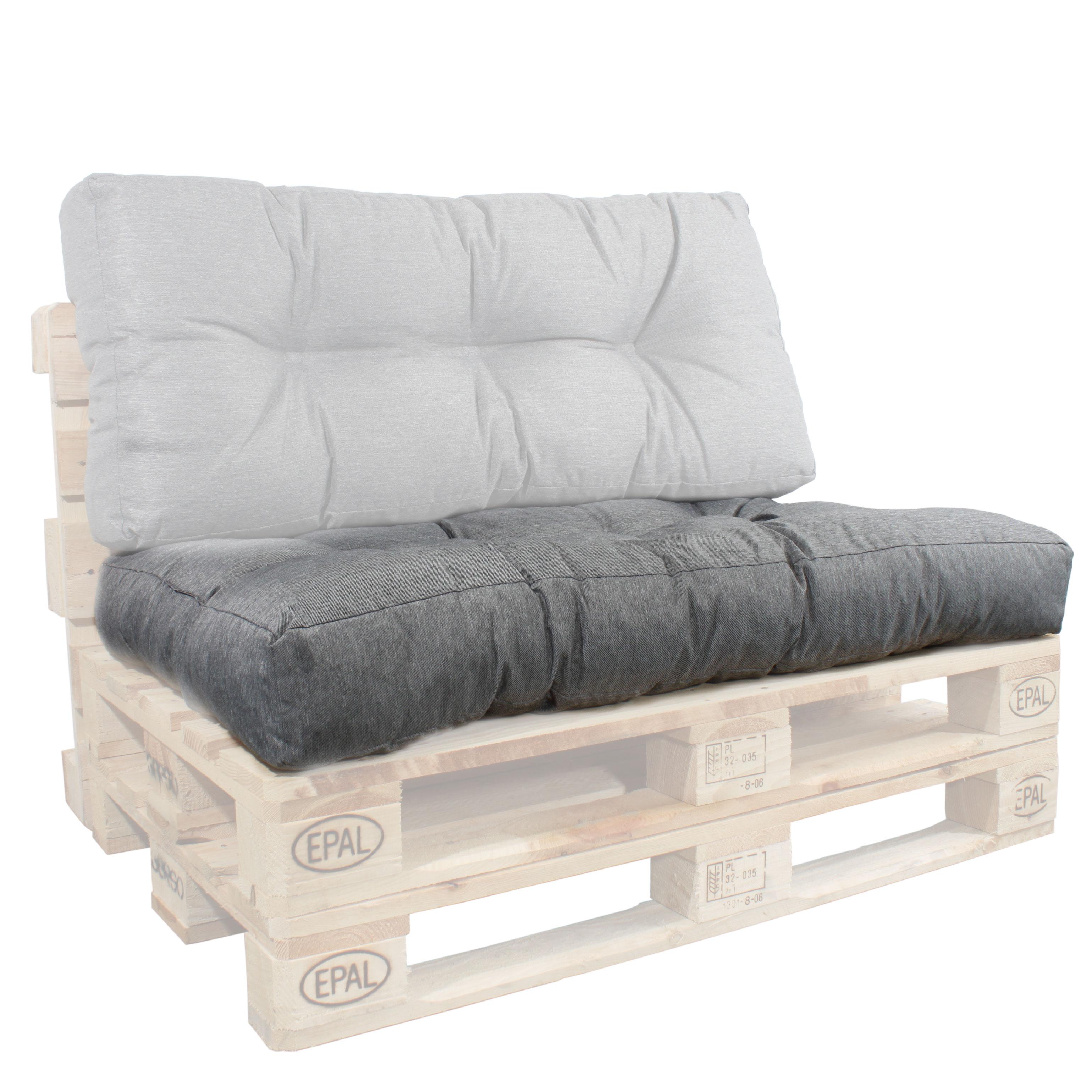 Sitzkissen für EUR-Paletten grau