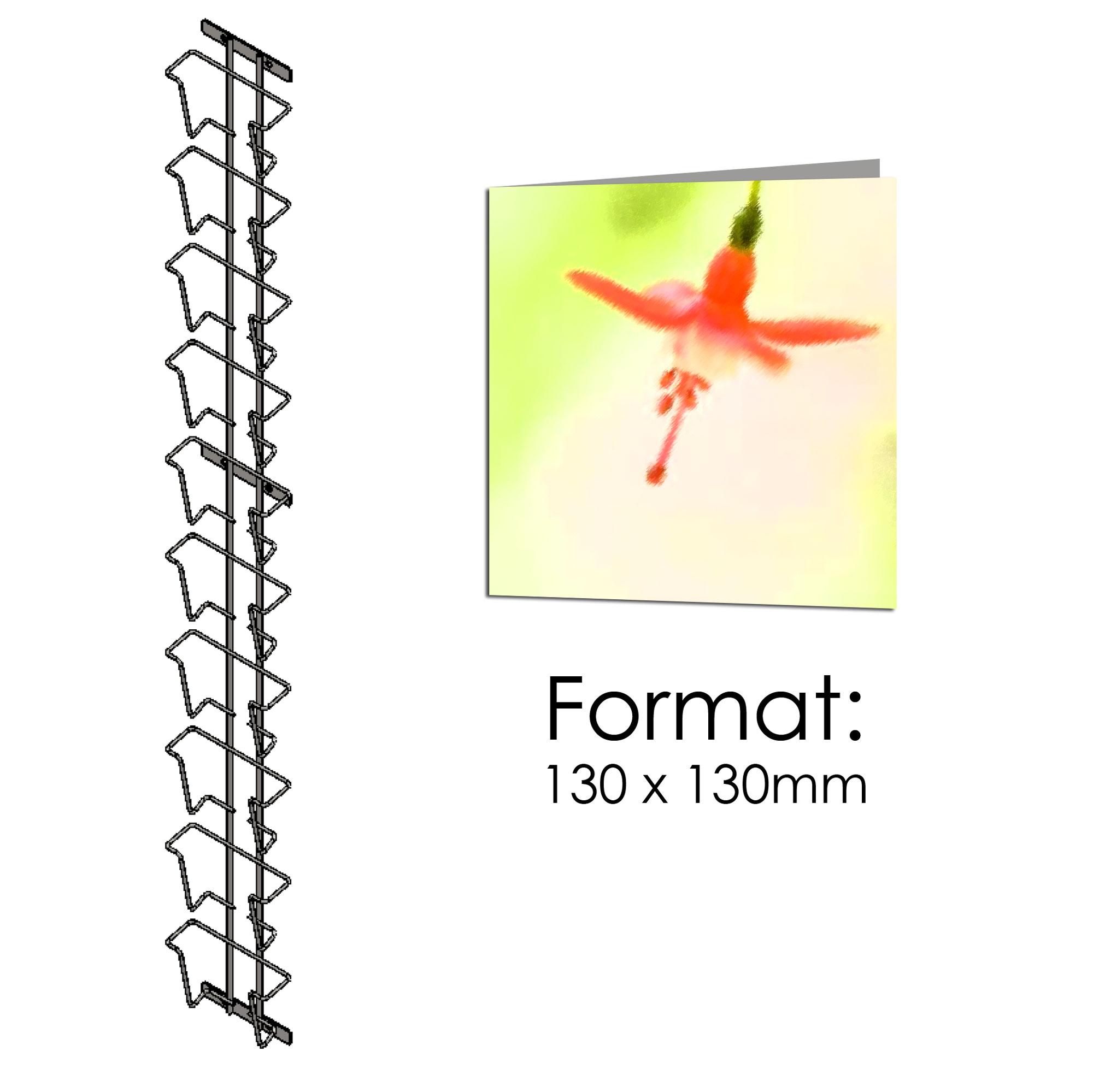 Postkartenleiste einfach 10 Fächer quadratisch130x130mm
