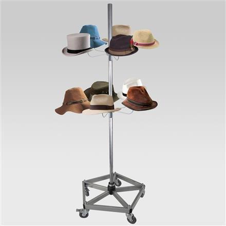 Hutständer für 10 Hüte, Fuß verstärkt
