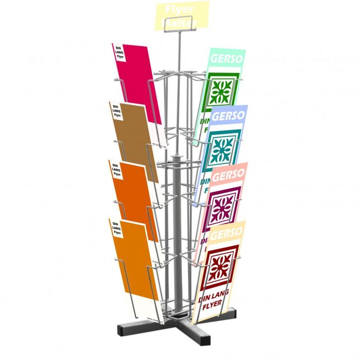 Theken-Postkartenständer mit 16 Fächern DIN Lang