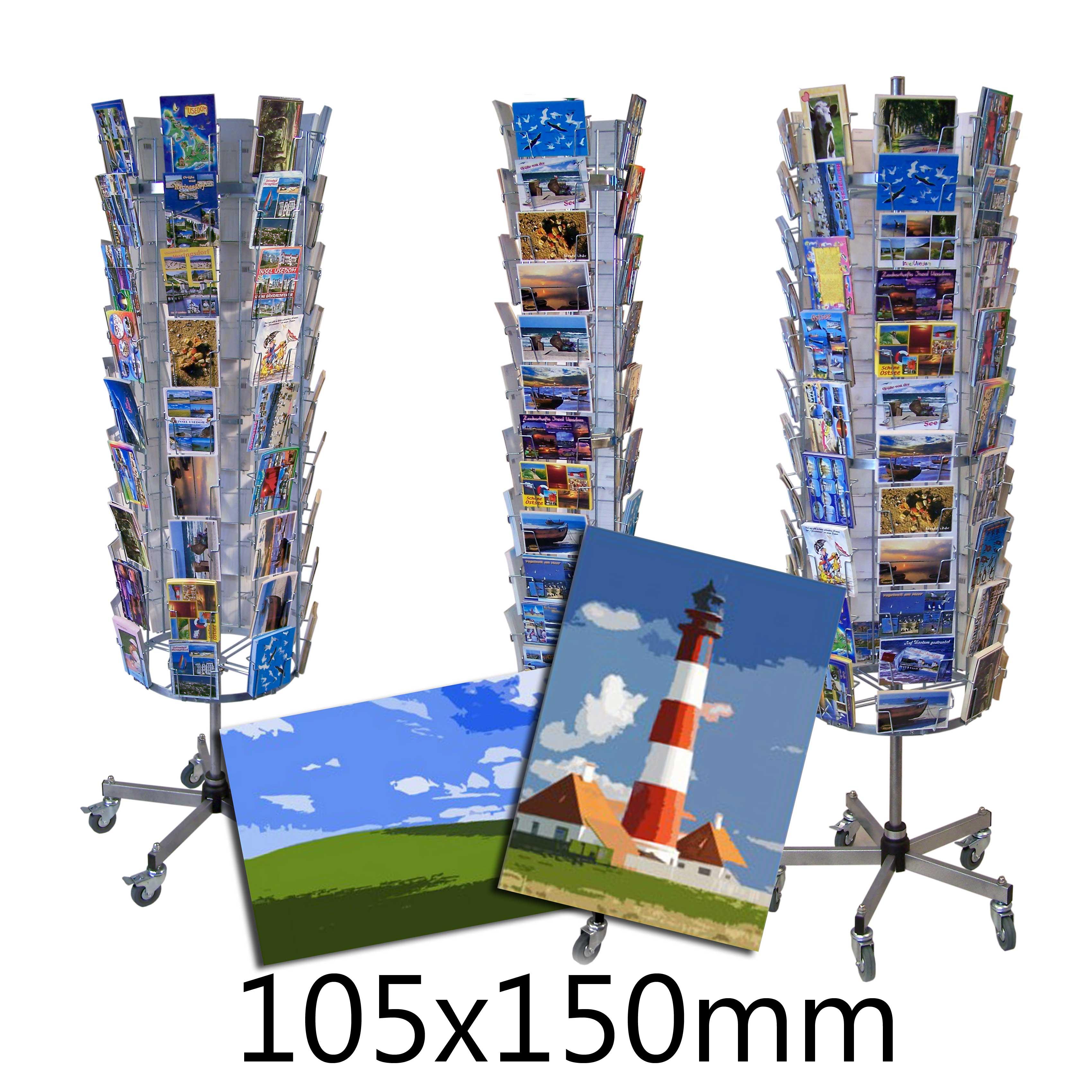Kartenständer für Postkarten A6 ca. 105x150