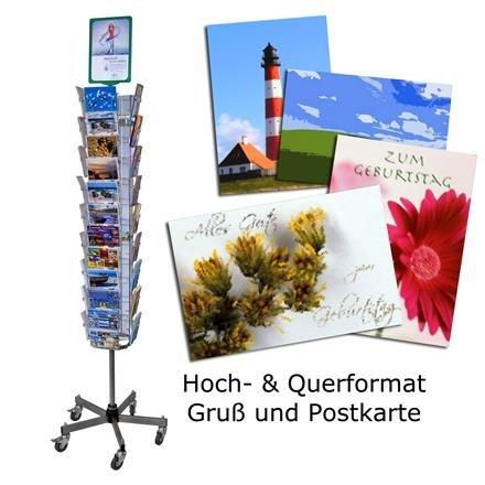 Postkartenständer Gemischt mit 42 Fächern