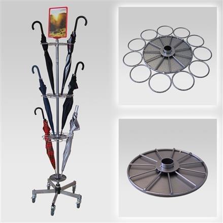 Regenschirmständer für 33 Schirme, Fuß standard