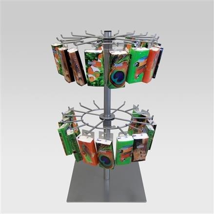 Schmuckständer Tischständer mit 2 Kränzen 16 Haken