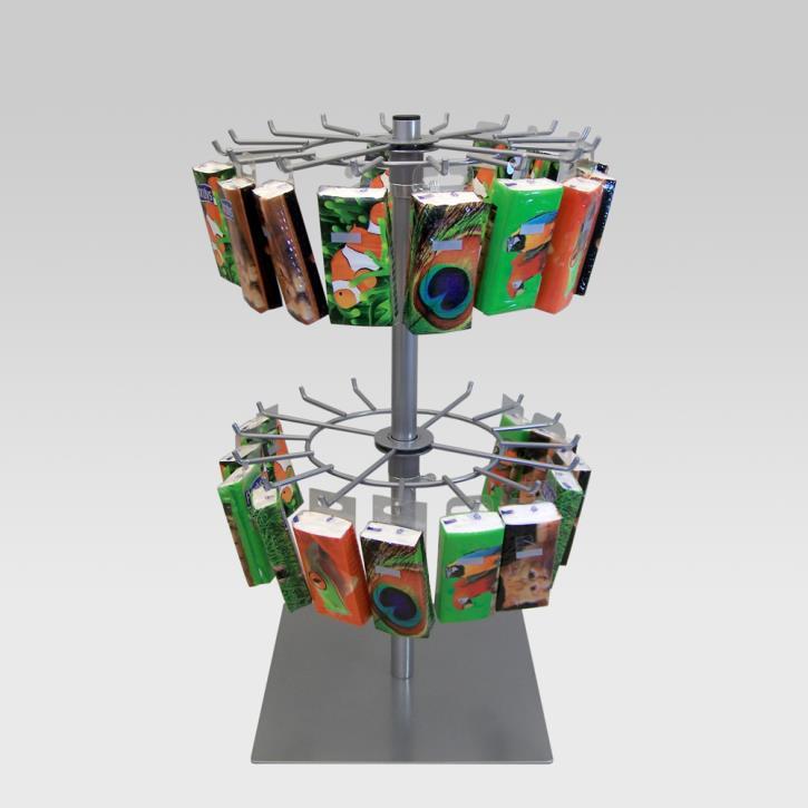 Tischständer mit 2 Kränzen je 16 Haken