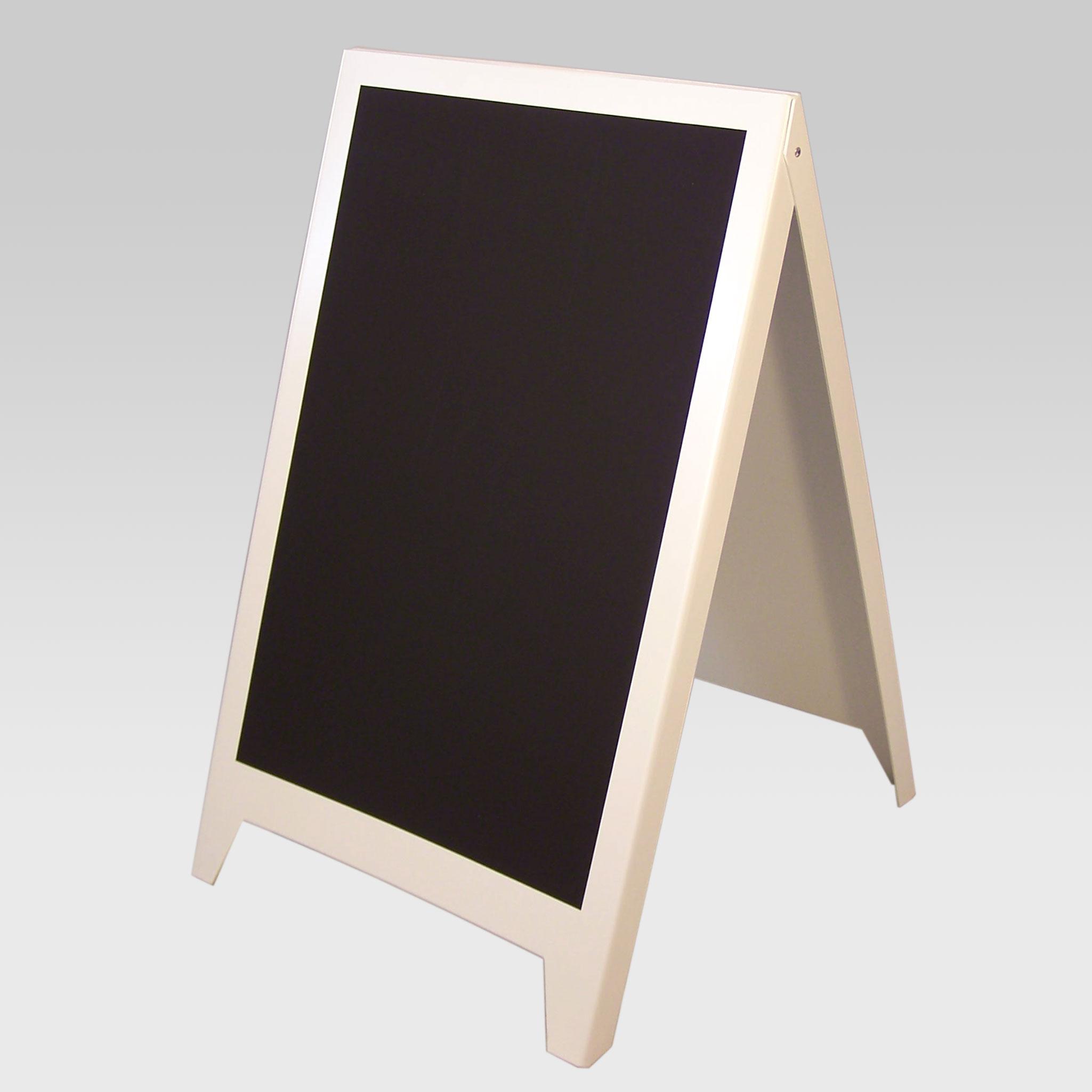 A-Standschild, A1, mit Sichtscheibe, weiß