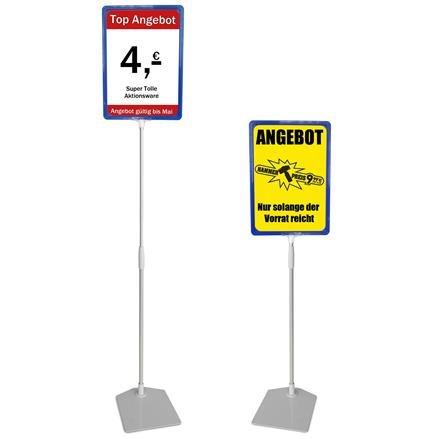 Plakatständer A4 blau Höhe flexibel 750-1500mm