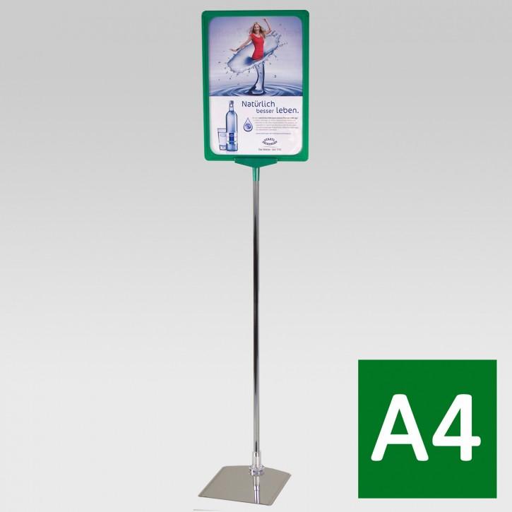 Plakatständer A4 Teleskoprohr 32-62cm grün