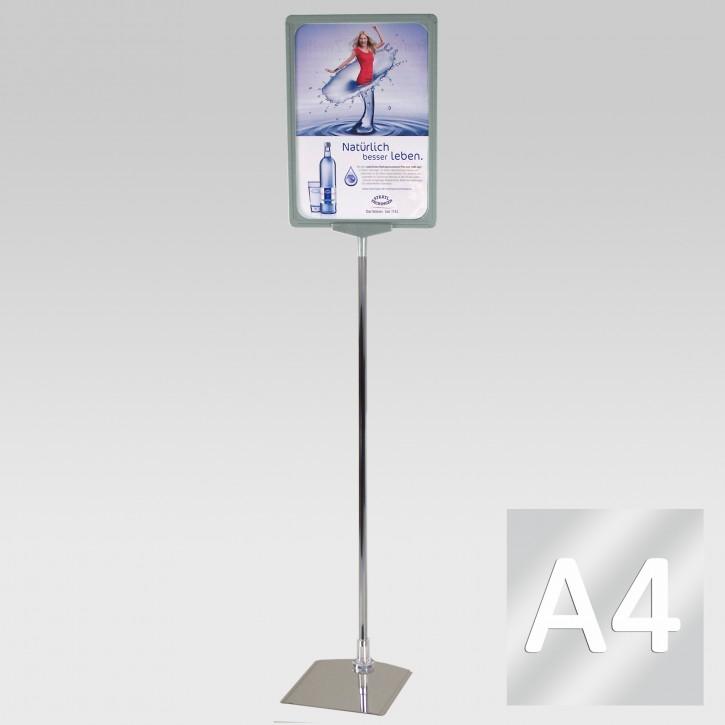 Plakatständer A3 Teleskoprohr 32-62cm transparent