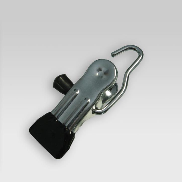 Stiefelklammer 75/55 mm, gummiert Bügelhaken