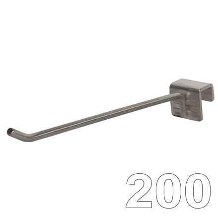 Aufsteckhaken Einfachhaken, L=200 D=6 Edelstahl