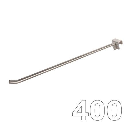 Aufsteckhaken Einfachhaken, L=400 D=10 Edelstahl