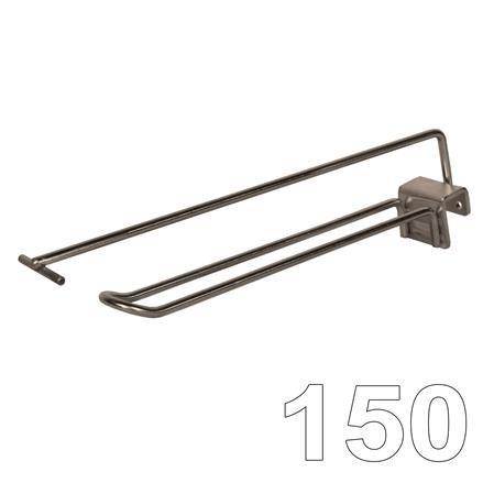 Aufsteckhaken Einfachhaken, L=150 D=6 mit PT