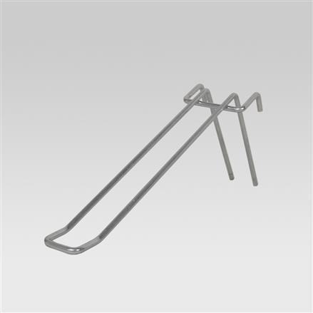 Doppelhaken, eckig, alu, L = 260 mm