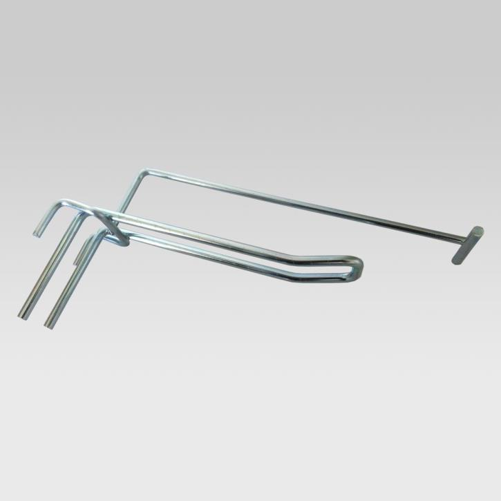 Doppelhaken für Gitter 55 x 55 mm
