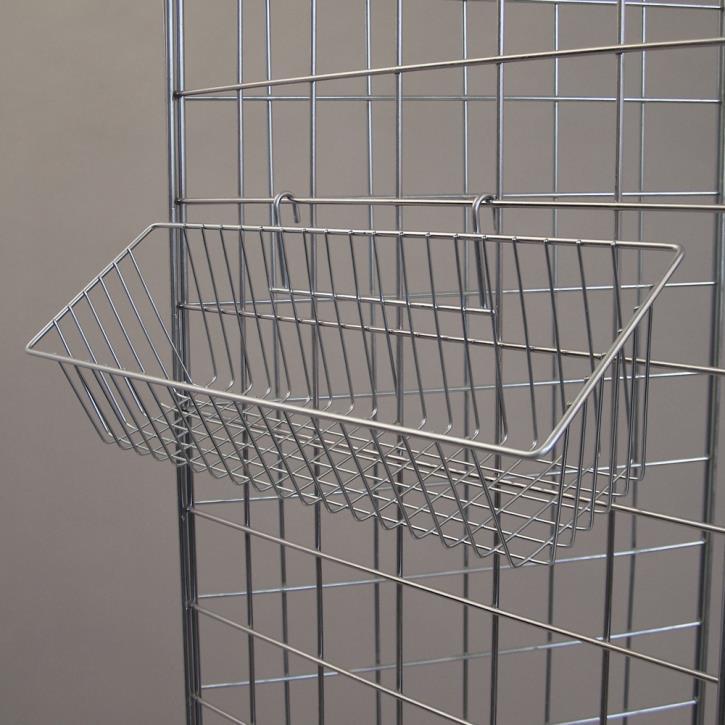 Korb 430 x 135 x 115 mm, zur Aufhängung an Gitter