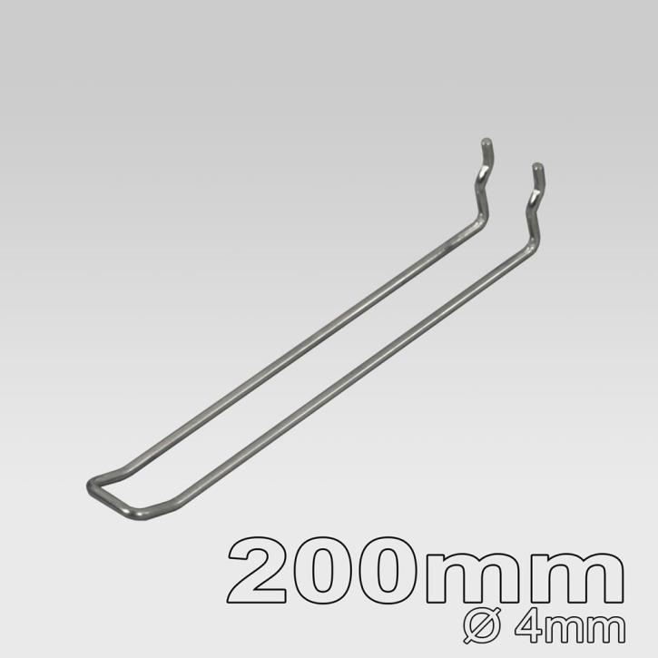 Doppelhaken für Lochplatte 200mm