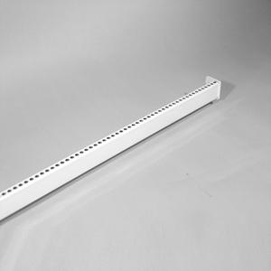 Tragestange 1250 mm, gelocht Lichtgrau RAL 7035