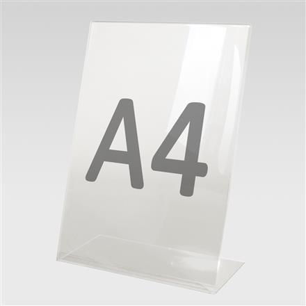 L-Aufsteller für Format A4 aus Acryl