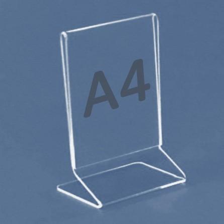 Tischaufsteller Z-Aufsteller für Format A4, Acryl