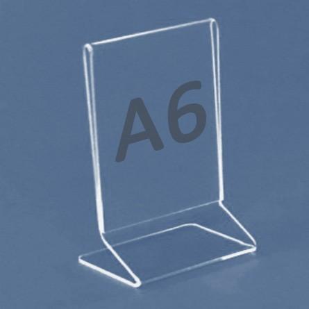 Tischaufsteller Z-Aufsteller für Format A6, Acryl