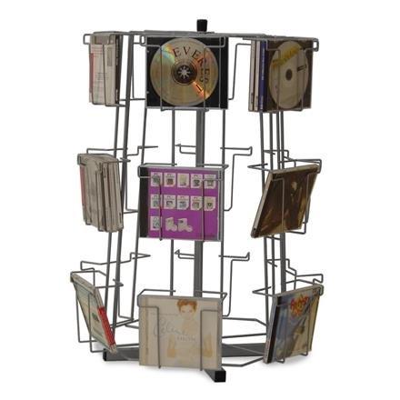 Thekenständer CD/DVD, mit 18 Fächer je 2 DVDs, CDs