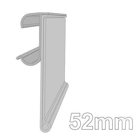 Schiene mit Klebeprofil;  H: 52 mm