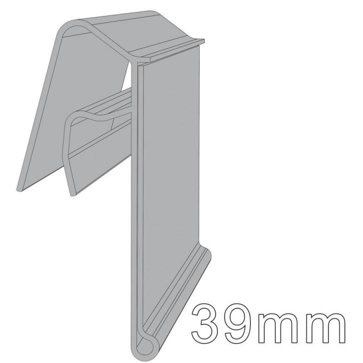Scannerschiene für Körbe und Gitter Höhe: 39mm