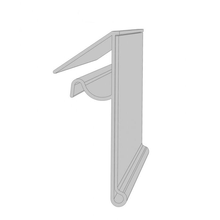 Preisschiene für Drahtkorbprofil H: 39 mm